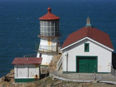 Point Reyes Lighthouse close-up Point Reyes National Seashore