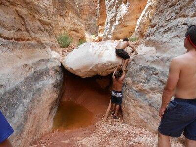rock blocking South Canyon Grand Canyon National Park