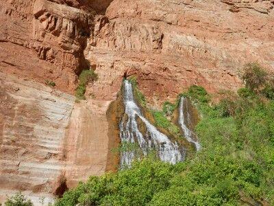 Vaseys Paradise waterfall from Colorado River