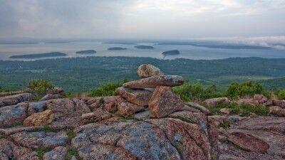 Blue Hill Overlook on Cadillac Mountain Acadia National Park