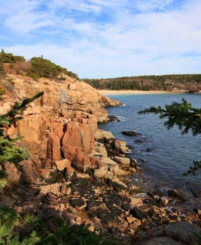 Acadia national Park park loop road view