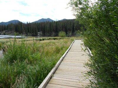 Sprague Lake hiking path at Rocky Mountain National Park