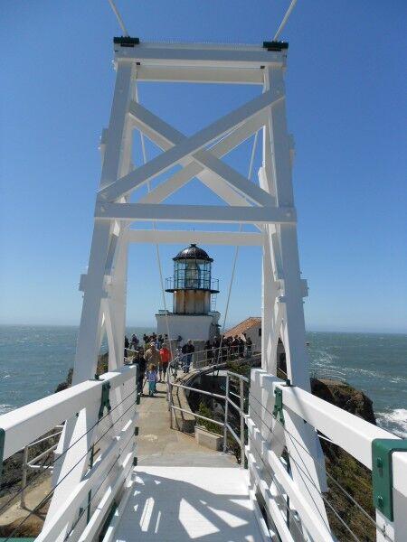 Point Bonita lighthouse new bridge