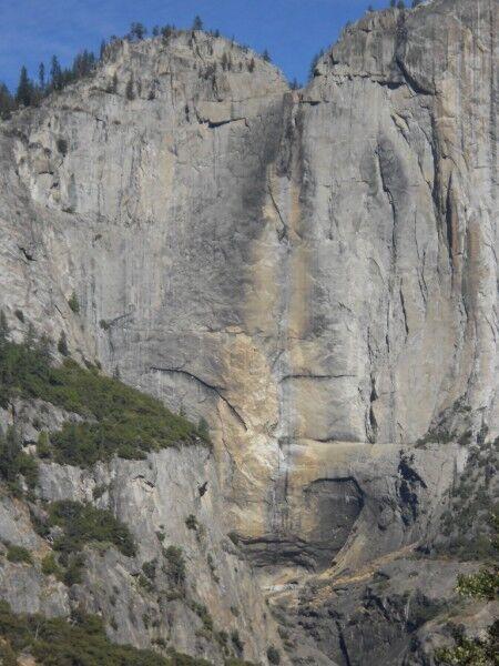Yosemite falls dry at Yosemite National Park